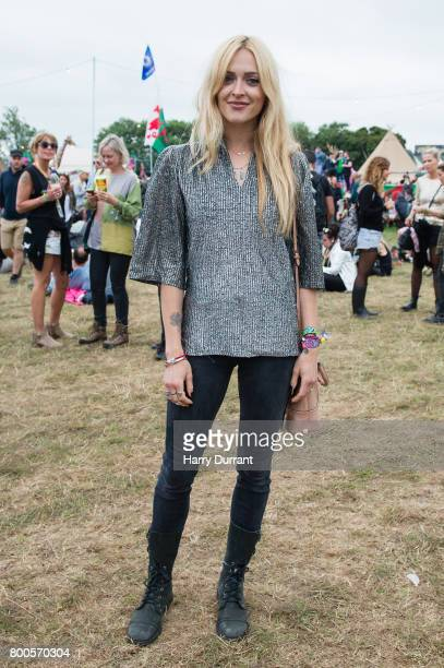 Fearne Cotton attends day 3 of the Glastonbury Festival 2017 at Worthy Farm Pilton on June 24 2017 in Glastonbury England