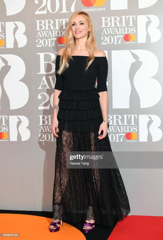 ONLY. Fearne Cotton attends The BRIT Awards 2017 at The O2 Arena on February 22, 2017 in London, England.