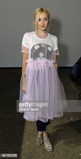 Fearne Cotton attends the Molly Goddard runway show during London Fashion Week Spring/Summer collections 2017 on September 17 2016 in London United...