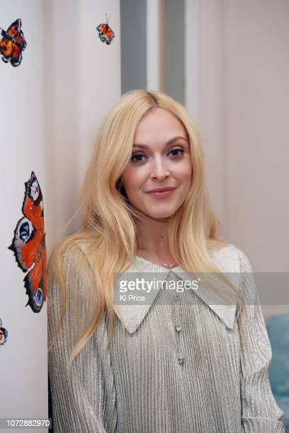 Fearne Cotton attends the opening of The Butterfly Terrace painted by Leah Wood at The Mandarin Oriental Hyde Park London on December 13 2018 in...