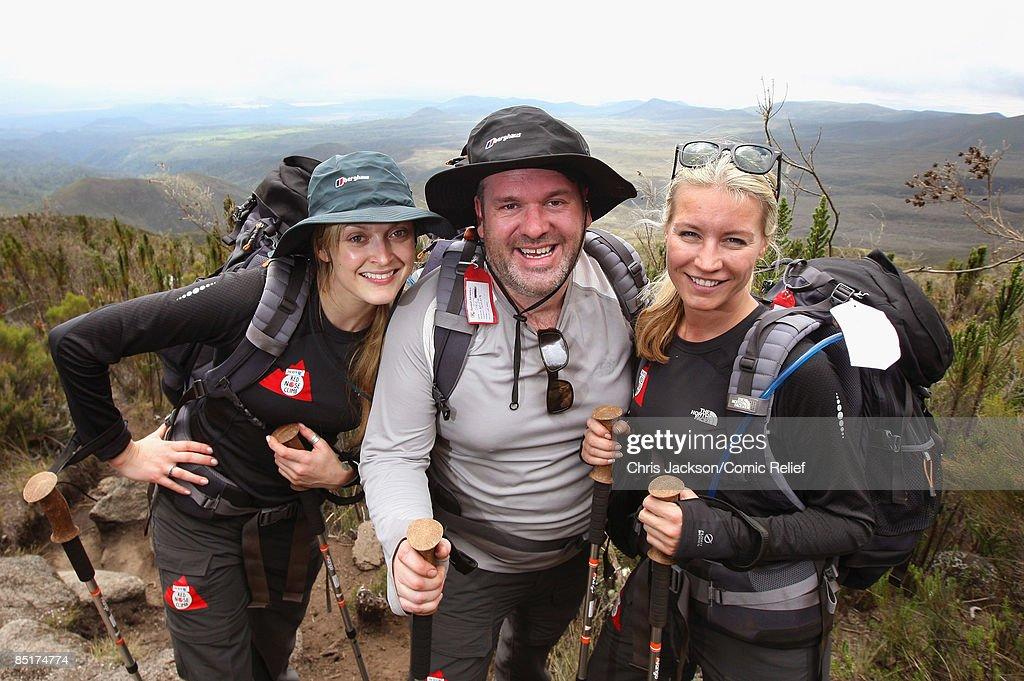 Celebrities Climb Mount Kilimanjaro For Comic Relief - Day 2 : News Photo