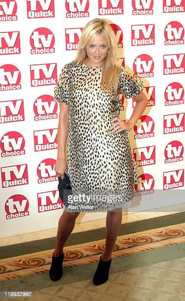 Fearne Cotton during TV Quick Awards TV Choice Awards Inside Arrivals at The Dorchester in London Great Britain