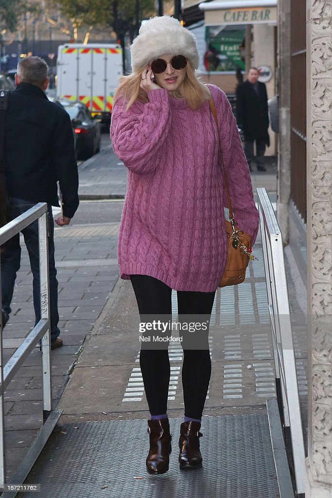 Fearne Cotton is seen at BBC Radio One on November 30, 2012 in London, England.