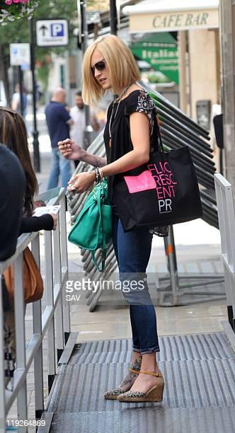 Fearne Cotton is seen leaving Radio 1 on July 15 2011 in London England