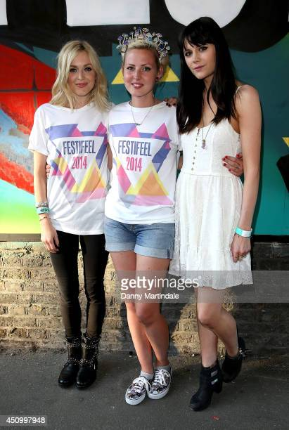 Fearne Cotton Kris Hallenga and Lilah Parsons attends a photocall to launch Festifeel a music festival hosted by Breast Cancer Care charity Coppafeel...