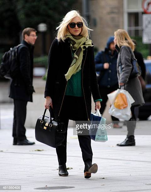 Fearne Cotton pictured arriving at Radio 1 on November 22, 2013 in London, England.