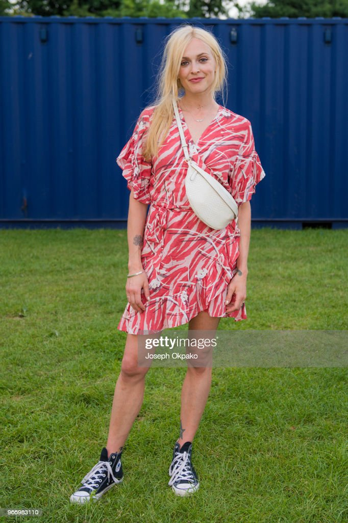 Fearne Cotton poses backstage at Mighty Hoopla festival at Brockwell Park on June 3, 2018 in London, England.