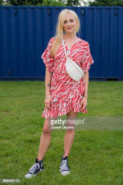 Fearne Cotton poses backstage at Mighty Hoopla festival at Brockwell Park on June 3 2018 in London England
