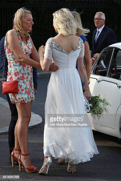Fearne Cotton Seen Arriving At Her Wedding Reception On July 4 2017 In London England