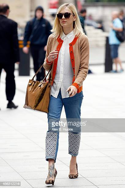 Fearne Cotton seen arriving at the BBC Radio 1 Studios on September 29 2014 in London England Photo by Alex Huckle/GC Images