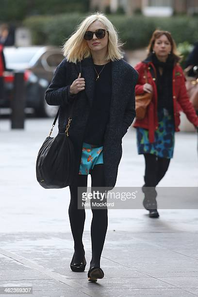 Fearne Cotton seen at BBC Radio One on January 13 2014 in London England