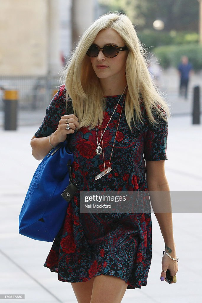 Fearne Cotton seen leaving BBC Radio One on September 5, 2013 in London, England.