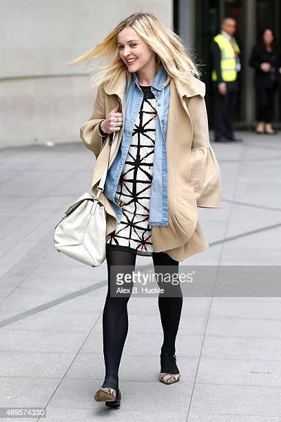 Fearne Cotton seen leaving the BBC Radio 1 Studios on April 13 2015 in London England