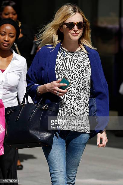 Fearne Cotton seen leaving the BBC Radio 1 Studios on April 15 2015 in London England