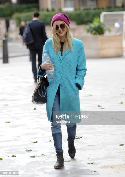 Fearne Cotton sighted arriving at BBC Radio 1 on October 28 2013 in London England