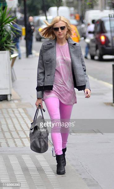 Fearne Cotton sighted arriving at Radio 1 on July 19 2011 in London England