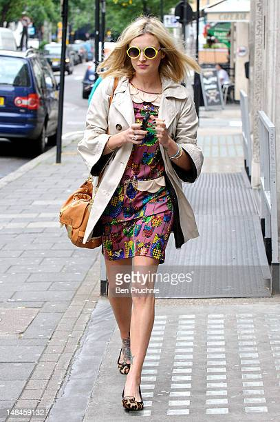 Fearne Cotton sighted at BBC Radio 1 on July 17 2012 in London England