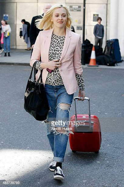Fearne cotton sighted leaving work from the BBC Radio 1 Studios April 10 2014 in London England