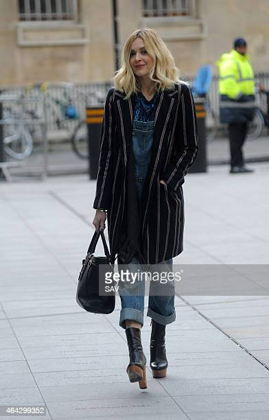 Fearne Cotton sighting at BBC Radio 1 on February 24 2015 in London England