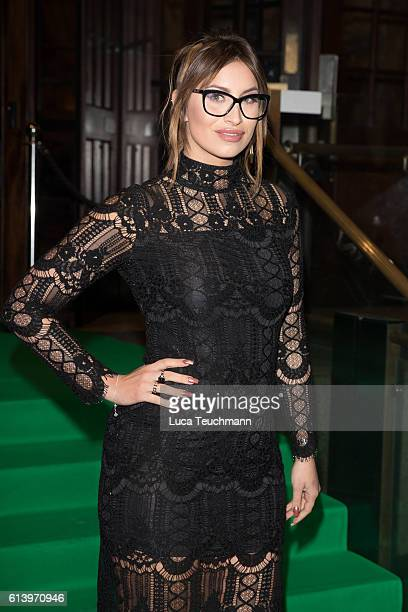 Fearne McCann attends the Spectacle Wearer of the Year awards on October 11 2016 in London England