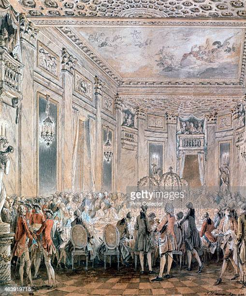 'Feast at Louveciennes' 1771 Feast given by Madame du Barry for Louis XV on 2nd September 1771 at the inauguration of the Pavillon at Louveciennes...