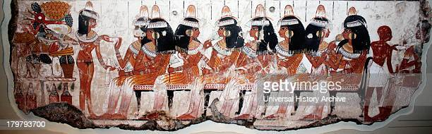 A feast for Nebamun An entire wall of the tombchapel showed a feast in honour of Nebamun Naked serving girls and servants wait on his friends and...
