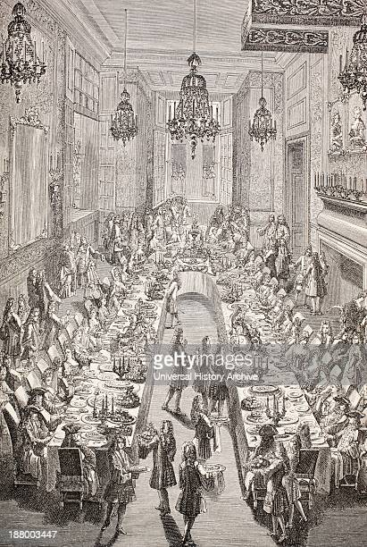 Feast Given For The Spanish Ambassador To France In Paris 1707 From Xviii Siecle Institutions Usages Et Costumes Published Paris 1875