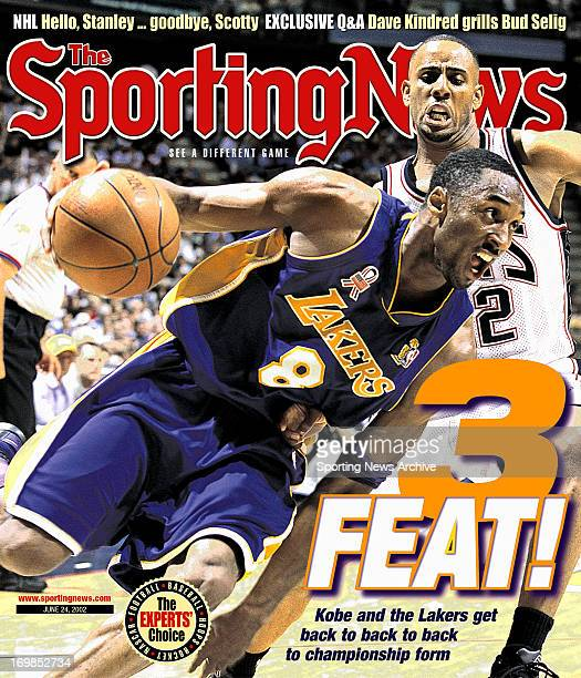 Los Angeles Lakers' Kobe Bryant NBA Champions June 24 2002 3 Feat Kobe and the Lakers get back to back to back to championship form