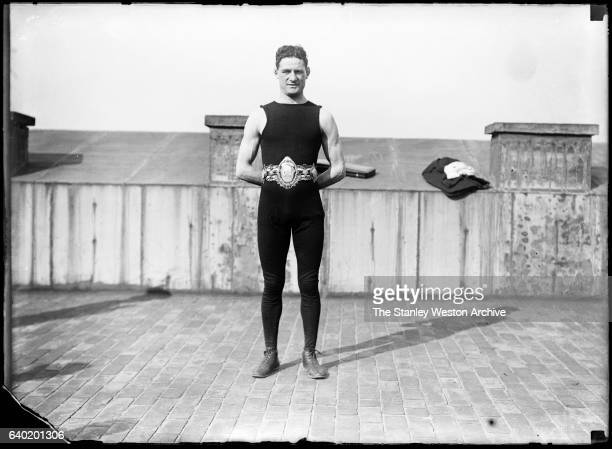 Featherweight boxer from Cardiff Wales United Kingdon Jim Driscoll poses for a portrait circa 1900