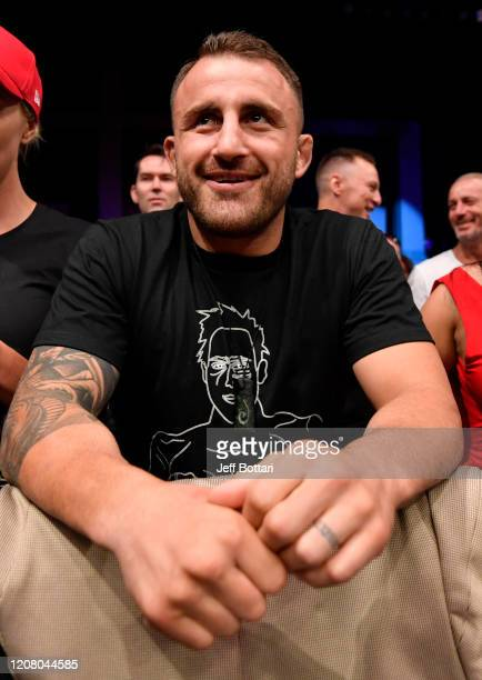 UFC featherweight champion Alex Volkanovski attends the UFC Fight Night event at Spark Arena on February 23 2020 in Auckland New Zealand