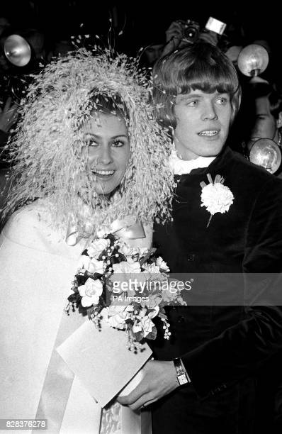 Feathery headdress for the bride of Mr Peter Blair Noone who was married to Mireille Strasser