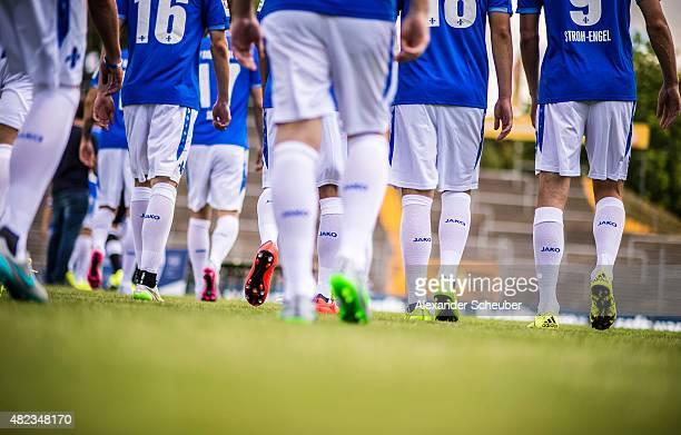 Feature during the team presentation of SV Darmstadt 98 at Merck-Stadion am Boellenfalltor on July 30, 2015 in Darmstadt, Germany.