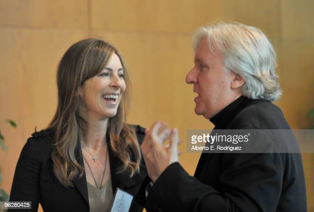 DGA feature film director nominees Kathryn Bigelow and James Cameron attend the 62nd Annual Directors Guild Of America Awards President's Breakfast...