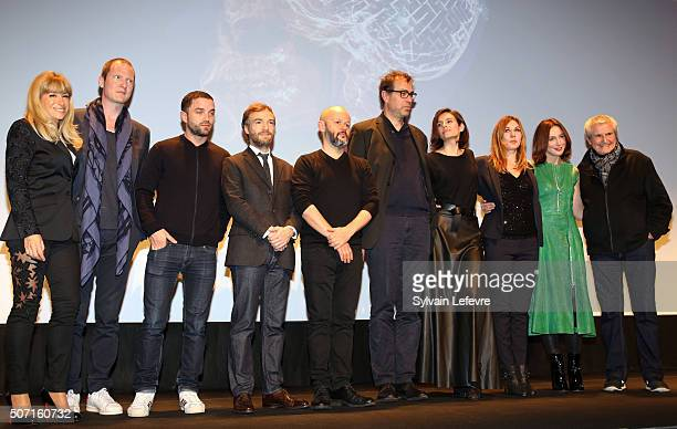 Feature film jury Sophie AudouinMamikonian Guest Guillaume Gouix Jonathan Lambert Guests Mathilde Seigner Elsa Zylberstein and Claude Lelouch attend...