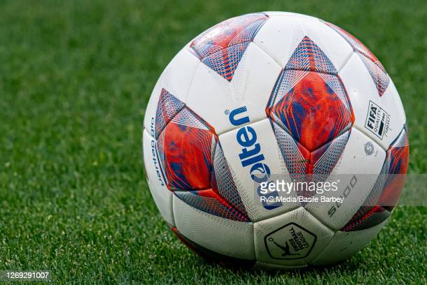 Feature image of the Molten Official Swiss Football League ball with colours for Europa League prior the UEFA Europa League qualification match...