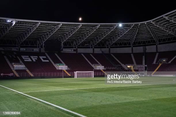 Feature image of the Stade de Geneve stadium after the UEFA Europa League qualification match between Servette FC and MFK Ruzomberok at Stade de...