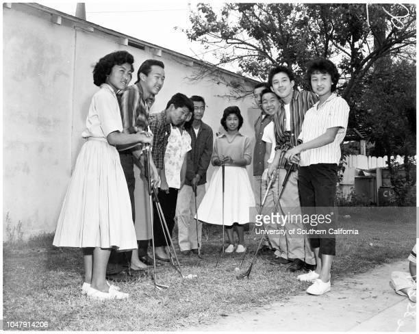 Feature on Japanese teenagers , 8 May 1958. Richard Kakita -- 15 years;Gordon Sugimoto -- 14 years;Jeanie Tatsumi -- 14 years;William Shibata -- 15...