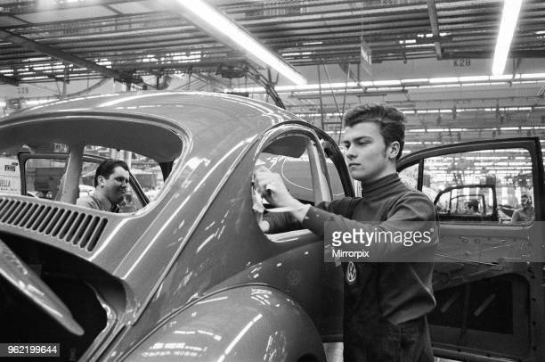 Feature on young people living in Germany Picture shows Nineteen year old Reinhard Brandl who has just passed his apprenticeship pictured at work in...