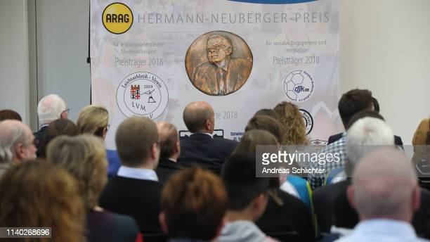 feature overview during the HerrmannNeubergerPreis Awarding Ceremony on April 30 2019 in Saarbruecken Germany