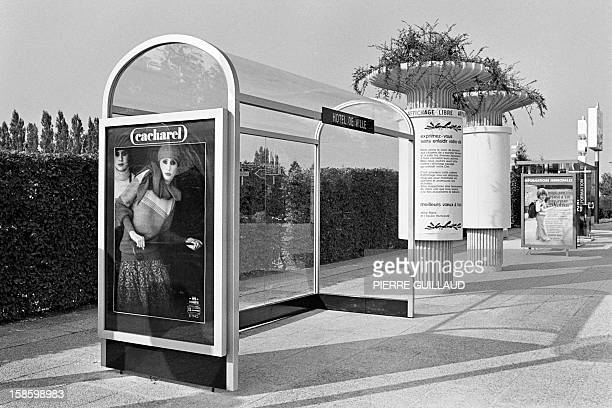 A feature photo taken on September 21 1978 in PlaisirSainteAppoline Western Paris shows a busstop advertising systems of Decaux Company JCDecaux...