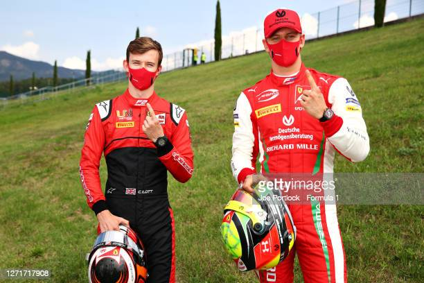 Feature race winner in Monza, Mick Schumacher of Germany and Prema Racing and sprint race winner Callum Ilott of Great Britain and UNI-Virtuosi...