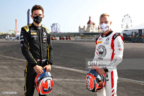Feature race winner in Mugello, Nikita Mazepin of Russia and Hitech Grand Prix and sprint race winner in Mugello, Christian Lundgaard of Denmark and...