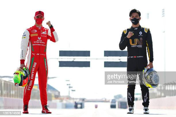 Feature race winner in Russia, Mick Schumacher of Germany and Prema Racing and sprint race winner in Russia, Guanyu Zhou of China and UNI-Virtuosi...