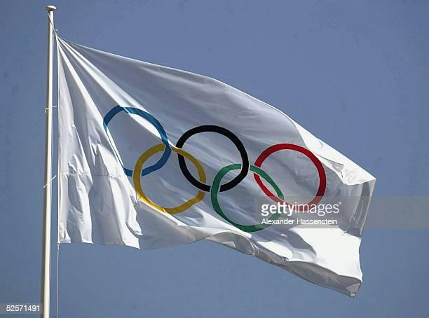Feature / Sportstaette: Olympische Spiele Athen 2004, Athen; Olympische Flagge 24.08.04.
