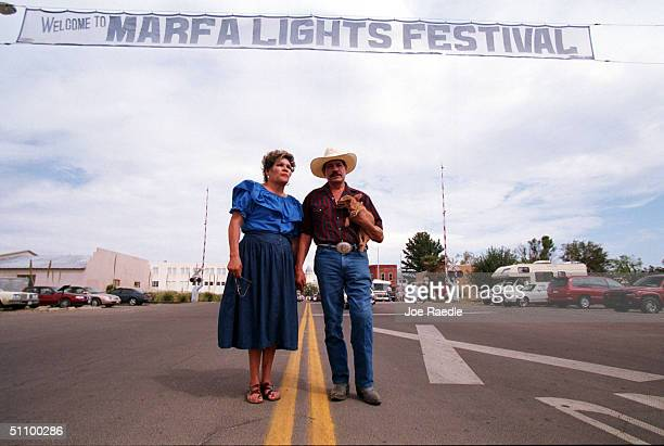 Elena Hernandez And Ben Campos Enjoy The Marfa Lights Festival In Downtown Marfa Texas September 41999 The Festival Held Each Year During The 3Day...