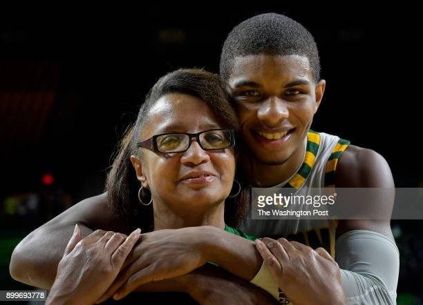 feature story on George Mason guard Justin Kier right who was raised by his grandmother Evelyn Kier left after he was in car accident in which he was...