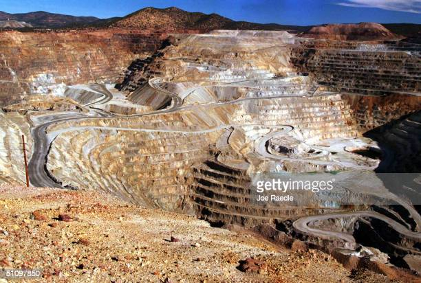 Trucks Carry The Raw Material To Be Made Into Copper Out Of One Of The Oldest And Largest OpenPit Mines In North America Owned By Phelps Dodge Mining...