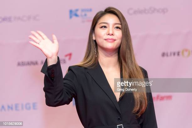 Featured Artist Ailee attends the KCON 2018 LA Photo Op at Los Angeles Convention Center on August 11 2018 in Los Angeles California