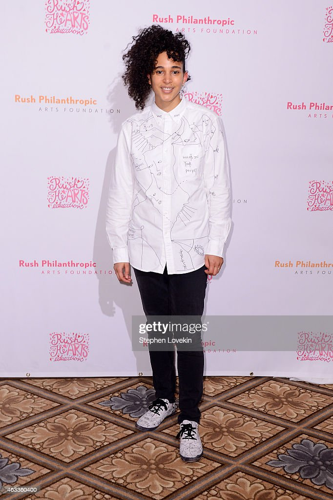 Featured artist Shantell Martin attends Russell Simmons' Rush Philanthropic Arts Foundation's annual Rush HeARTS Education Valentine's Luncheon at The Plaza Hotel on February 13, 2015 in New York City.