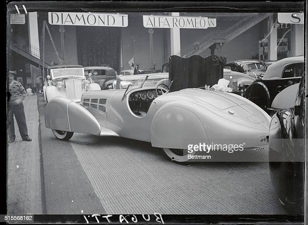 Featured by improved aerodynamic design, this Bugatti was one of the striking models on display at the 30th annual Paris Motor Show, which opened...